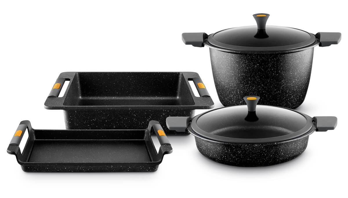 Casserole Induction Compatible Vitroceramique vulcano: the perfect cookware for flexinduction cooktops